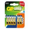 AAA Ultra Alkalin Plus+ Pil 4+2 Paket
