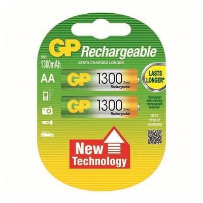 GP Şarjlı Pil Aa Kalem 1300 Nı-mh 2'li Paket Pil / Şarj Cihazı
