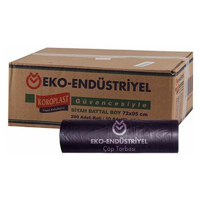 Koroplast Eko Endüstriyel Çöp Poşeti Battal Boy 72 X 95 Cm 1 Koli Çöp Torbaları