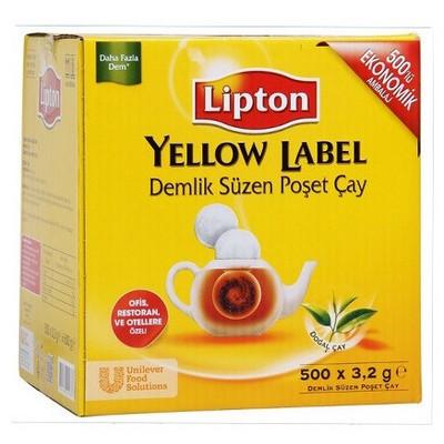 Lipton Yellow Label Demlik  3.2 G 500 Adet Poşet Çay