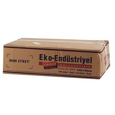 Koroplast Eko Endüstriyel Çöp Poşeti Hantal Boy 100x150 Cm 1 Koli Çöp Torbaları
