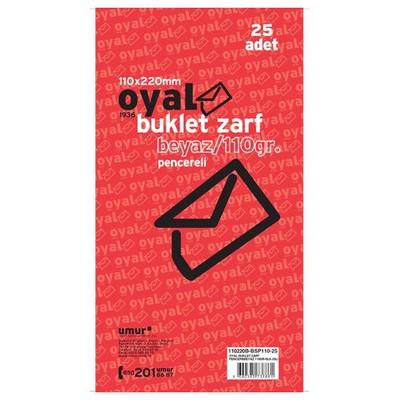 oyal-pencereli-buklet-zarf-beyaz-silikonlu-110x220mm-110gr-25-li-paket