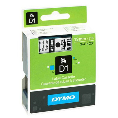 Dymo D1 Yedek Şerit 19 Mm X 7 M Siyah - Beyaz Etiket
