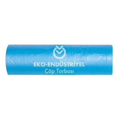 Koroplast Endüstriyel Mavi Çöp Torbası 10 Adet Jumbo Boy 1 Koli Çöp Torbaları