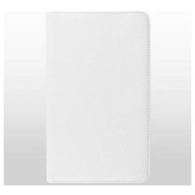 Microsonic 360 Rotating Stand Deri Samsung Galaxy Tab E 9.6'' T560 Kılıf Beyaz Tablet Kılıfı