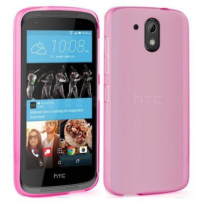 Microsonic Htc Desire 526 Kılıf Transparent Soft Pembe Cep Telefonu Kılıfı
