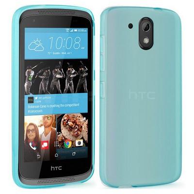 Microsonic Htc Desire 526 Kılıf Transparent Soft Mavi Cep Telefonu Kılıfı