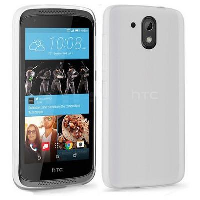 Microsonic Htc Desire 526 Kılıf Transparent Soft Beyaz Cep Telefonu Kılıfı