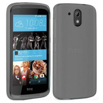 Microsonic Htc Desire 526 Kılıf Transparent Soft Siyah Cep Telefonu Kılıfı