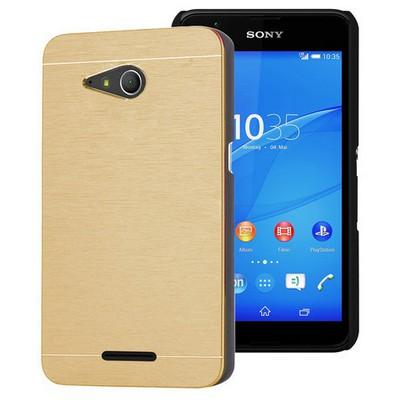 Microsonic Sony Xperia E4g Kılıf 4.7'' Hybrid Metal Gold Cep Telefonu Kılıfı