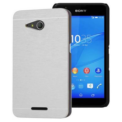 Microsonic Sony Xperia E4g Kılıf 4.7'' Hybrid Metal Gümüş Cep Telefonu Kılıfı