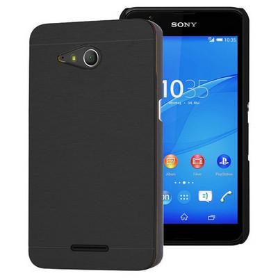 Microsonic Sony Xperia E4g Kılıf 4.7'' Hybrid Metal Siyah Cep Telefonu Kılıfı