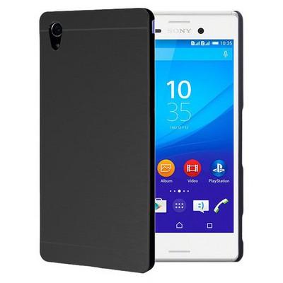 Microsonic Sony Xperia M4 Aqua Kılıf Hybrid Metal Siyah Cep Telefonu Kılıfı