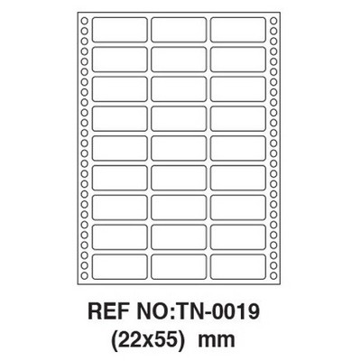 Tanex Tn-0019  22 X 55 Mm Etiket