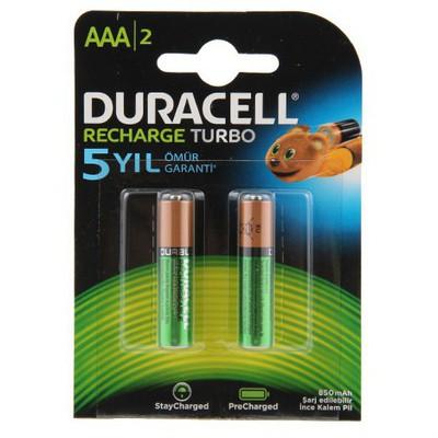 Duracell Şarj Edilebilir Aaa Ince Kalem Pil 850 Mah 2'li Paket Pil / Şarj Cihazı