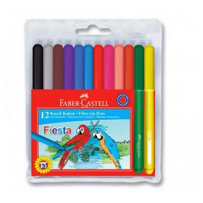 Faber Castell Fiesta Keçeli Kalem 12`li