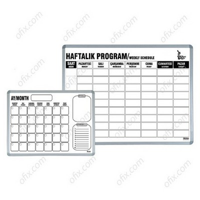 Interpano Inter Yazı Tahtası Haftalık Ders Programlı 60x90 Tahta & Pano