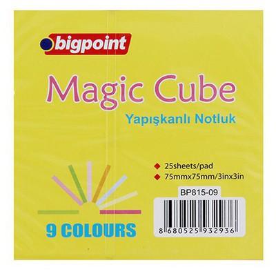 Bigpoint Neon Küp Notluk 75 X 75 Mm 225 Yaprak (bp815-09) Not Kağıdı