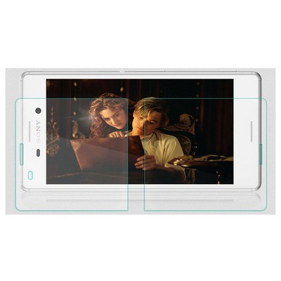 Microsonic Sony Xperia M4 Aqua Temperli Cam Ekran Koruyucu Ön + Arka Ekran Koruyucu Film
