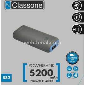 Classone S82-blue S84 5200mah Power Bank Samsung Sdı Taşınabilir Şarj Cihazı