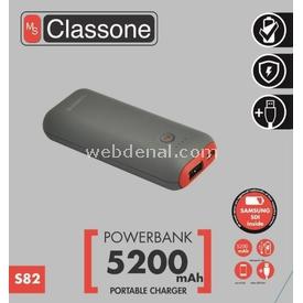 Classone S82-red S82 5200mah Power Bank Samsung Sdı Taşınabilir Şarj Cihazı