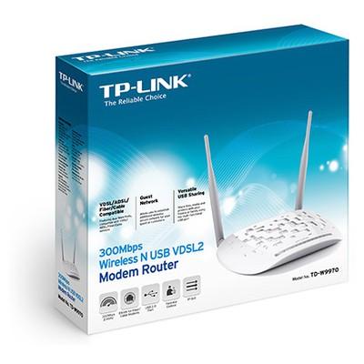 Tp-link TD-W9970 300Mbps Kablosuz N USB VDSL2 DSL Modem
