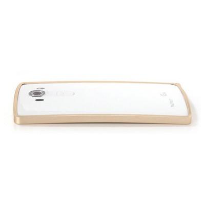 Microsonic Lg G4 Thin Metal Çerçeve Kılıf Gold Cep Telefonu Kılıfı