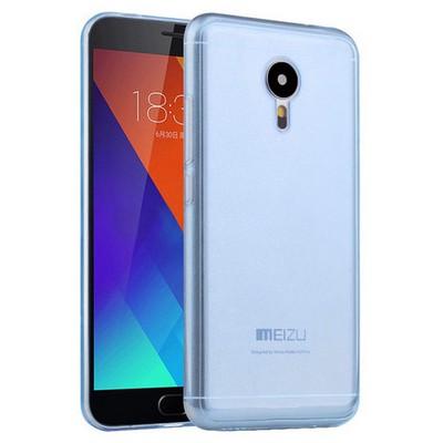 Microsonic Meizu Mx5 Kılıf Transparent Soft Mavi Cep Telefonu Kılıfı