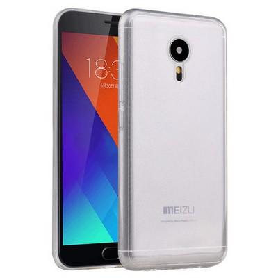 Microsonic Meizu Mx5 Kılıf Transparent Soft Beyaz Cep Telefonu Kılıfı