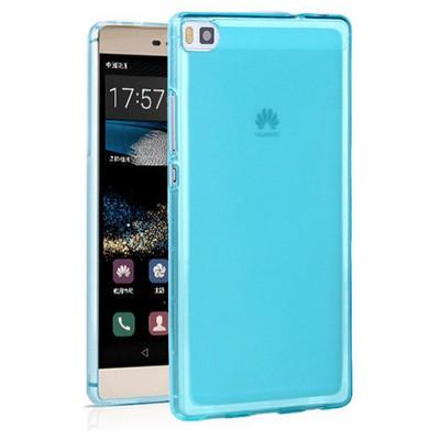 Microsonic Huawei Ascend P8 Kılıf Transparent Soft Mavi Cep Telefonu Kılıfı