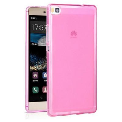 Microsonic Huawei Ascend P8 Kılıf Transparent Soft Pembe Cep Telefonu Kılıfı