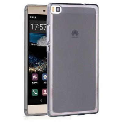 Microsonic Huawei Ascend P8 Kılıf Transparent Soft Siyah Cep Telefonu Kılıfı