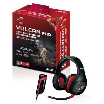 Asus Vulcan Pro Blk, Kafa Bantlı, Siyah, Kablolu, Kulaklık Kafa Bantlı Kulaklık