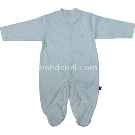 Bebetto Yonca T828 Penye Kız Bebek Tulum Ekru 3-6 Ay (62-68 Cm) Bebek Tulumu