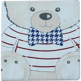 Bebetto Nico Boy Bear P230 Pazen Bebek Kundağı 85x85 Cm Bordo Kundak