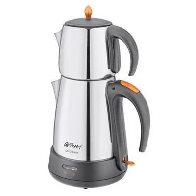 Arzum AR3004 Çaycı Klasik Parlak Inox Çay Makinesi