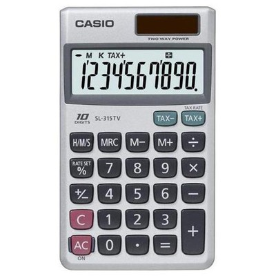 Casio Sl-315tv 10 Hane Cep Hesap Makinesi