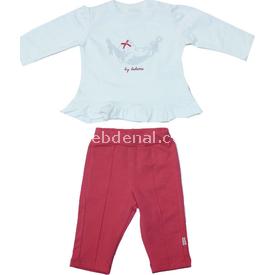 Bebetto K1146 2'li Ayılı Bebek Takımı Narçiçeği 3-6 Ay (62-68 Cm) Erkek Bebek Takım