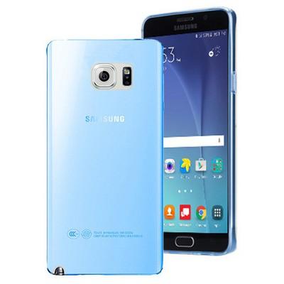 Microsonic Samsung Galaxy Note 5 Kılıf Transparent Soft Mavi Cep Telefonu Kılıfı