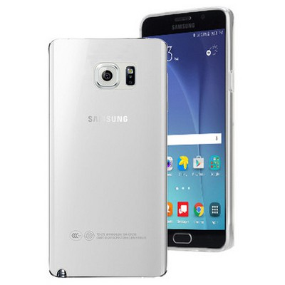 Microsonic Samsung Galaxy Note 5 Kılıf Transparent Soft Beyaz Cep Telefonu Kılıfı