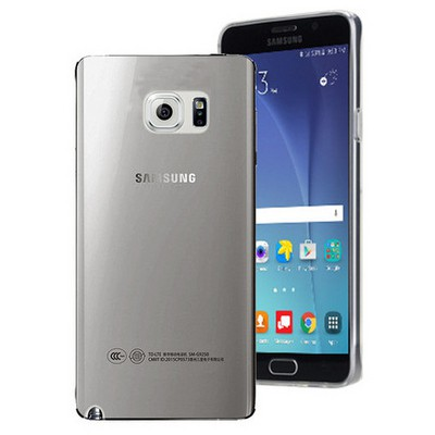 Microsonic Samsung Galaxy Note 5 Kılıf Transparent Soft Siyah Cep Telefonu Kılıfı