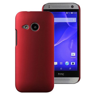 Microsonic Htc One Mini 2 (m8 Mini) Kılıf Premium Slim Kırmızı Cep Telefonu Kılıfı