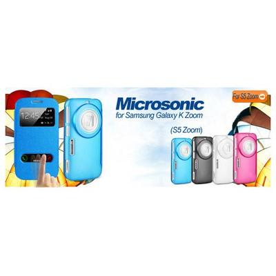 Microsonic Samsung Galaxy K Zomm (s5 Zoom) Kılıf Dual View Delux Kapaklı Siyah Cep Telefonu Kılıfı