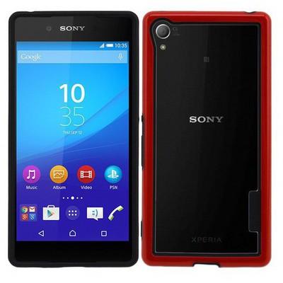 Microsonic Soft Bumper Sony Xperia Z3+ Plus Kılıf Kırmızı Cep Telefonu Kılıfı