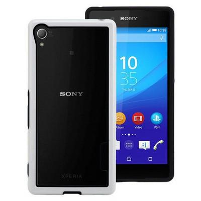 Microsonic Soft Bumper Sony Xperia Z3+ Plus Kılıf Beyaz Cep Telefonu Kılıfı