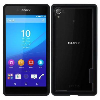 Microsonic Soft Bumper Sony Xperia Z3+ Plus Kılıf Siyah Cep Telefonu Kılıfı