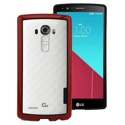 Microsonic Lg G4 Kılıf Soft Bumper Çerçeve Kırmızı Cep Telefonu Kılıfı