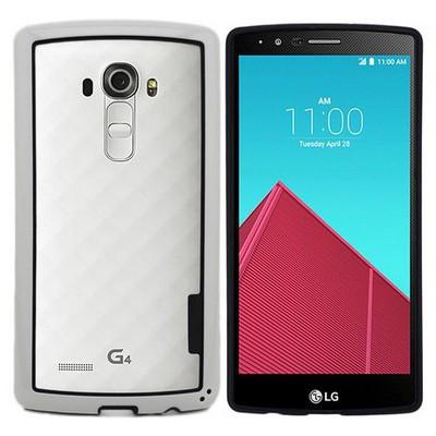 Microsonic Lg G4 Kılıf Soft Bumper Çerçeve Beyaz Cep Telefonu Kılıfı