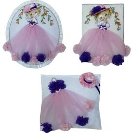 Handan 3 Lü Bebek Hatıra Seti Prenses Hatıra Ürünleri