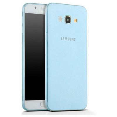 Microsonic Samsung Galaxy A8 Kılıf Transparent Soft Mavi Cep Telefonu Kılıfı